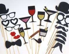 New Years Eve Photobooth Props, 2014 Glitter Photo Props, 2014 Photo Props - Google Search