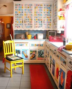 Latino Living: Mexican Decor Inspiration For The Latino Home  LOL... funny Loteria Kitchen