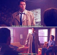 Special moment for Destiel shippers xD