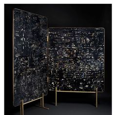 - Marcin Rusak has developed a technique of preserving dried and fresh flowers in black resin. He has applied this unique surface finish to some statement pieces of furniture such as this beautiful room divider and cast aluminum table. Marble Furniture, Furniture Design, Luxury Furniture, Living Furniture, Contemporary Furniture, Contemporary Design, Partition Screen, Flora, London Design Festival