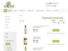 Biocellar Portfolio Web Design, Gourmet Gifts, Design Development, Website