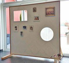 bild 1 hochzeitsdeko bilderwand f r g stefotos raumteiler vintage hochzeit 1 85 x 2 5m. Black Bedroom Furniture Sets. Home Design Ideas