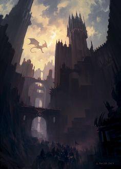 Dragon's Pass, Andreas Rocha on ArtStation at https://www.artstation.com/artwork/eve5D