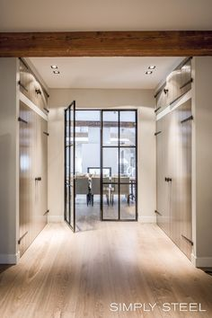 simply steel Inside Doors, Window Frames, Love Home, Rustic Chic, Windows And Doors, Home Goods, New Homes, Indoor, Interior Design