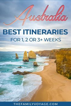 Australia is a huge country with SO much to see! Don't get overwhelmed with planning, check out these great Australia itinerary options for every length of stay. You'll find practical information on travel in Australia (including Australia on a budget) an Outback Australia, Visit Australia, Australia Honeymoon, Travel Guides, Travel Tips, Travel Destinations, Travel Packing, Travel Icon, Travel Outfits