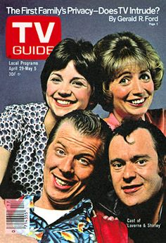 Laverne & Shirley & TV Guide - couldn't wait to get the new one each week to see what was coming on TV!