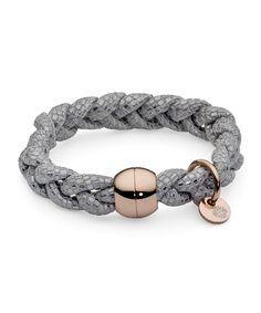 Pulsera Qudo Acero Rosa Napa CODINO Internet, Bracelets, Collection, Jewelry, Fashion, Jewel, Steel, Bangle Bracelets, Moda