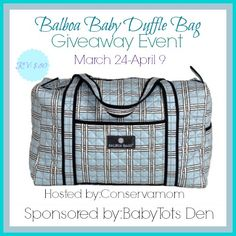 Balboa Baby Duffle Bag Giveaway  One winner will get a beautiful Blue Plaid Balboa Baby Duffle Bag that retails for $80!  Giveaway ends on 4/9 at 11:59pm. Open to residents of US only.