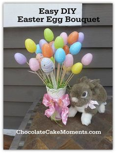 Super Easy DIY Easter Egg Bouquet