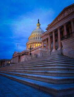 United States Capital Steps just before Sunrise.