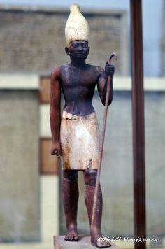 https://flic.kr/p/J1fTVW | Senwosret I | Statuette of Senwosret I. The MMA´s Expedition to Lisht discovered two exquisite wooden statuettes of Senwosret I in a brick chamber built into the retaining wall of a favored official´s tomb. The companion of this statuette, now at the Metropolitan Museum of Art, shows the king in the red crown of Lower Egypt. Here, the king wears the white crown of Upper Egypt, and holds a staff of office. Carved from several pieces of cedar wood that were carefully…