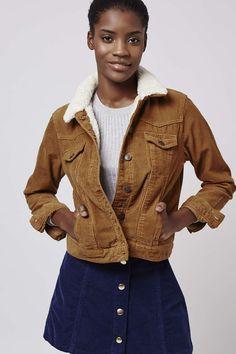 Photo 2 of PETITE Cord Borg Western Jacket