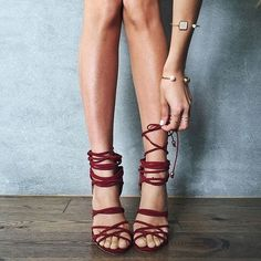 shoes nastygal suede burgundy strappy heel pumps all red wishlist party shoes suede shoes strappy sandals our favorite accessories 2015 Stilettos, Pumps, High Heels, Zapatos Shoes, Shoes Heels, Top Shoes, Cute Shoes, Me Too Shoes, Suede Heels
