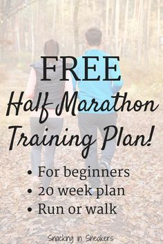 Here is a basic 20 week half marathon training schedule for beginners, designed to get you to the finish line - no matter how little you've previously run!