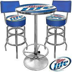 Ultimate Miller Lite ficially Licensed Game Room bo 2 Bar Stools