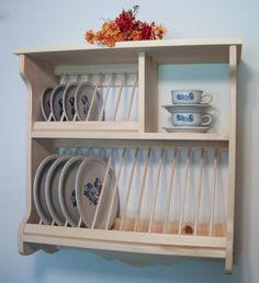 Plate Rack wood Pine New by OldYankeeWorkshop on Etsy