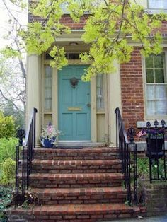 Give me a robins egg blue front door please
