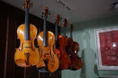 Gio Batta Morassi:  1969 violin and 1972 viola.  A baroque viola is under commission to a Swiss luthier.