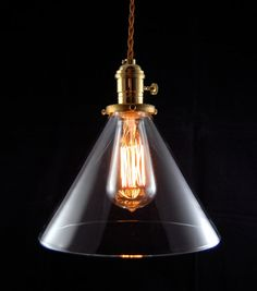 Deep Cone Pendant design inspiration on Fab. Unique Lighting, Industrial Lighting, Industrial Electric, Modern Industrial, Lighting Design, Devine Design, Old Lights, Vintage Lamps, Hanging Lights