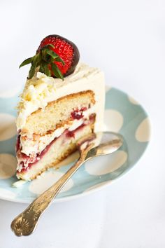 Strawberry Cake with Pink Champagne Buttercream by raspberri cupcakes, via Flickr
