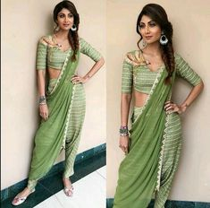 Shilpa Shetty is a Goddess when it comes to wearing sarees with style and class. she has bought sarees back to sexy. here is a list of 5 sarees which she wore recently and stole our heart away Dhoti Saree, Shilpa Shetty Saree, Saree Gown, Sari, Priyanka Chopra, Lehenga, Salwar Kameez, Sonakshi Sinha, Saree Draping Styles