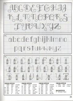 ALPHABET PATTERNS Cross Stitch Alphabet Patterns, Embroidery Alphabet, Cross Stitch Letters, Cross Stitch Love, Cross Stitch Needles, Cross Stitch Kits, Cross Stitch Designs, Stitch Patterns, Cross Stitching
