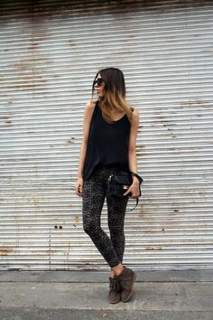 what-do-i-wear:    Zimmermann silk tank,Neon Hart Animal jeans(c/oGeneral PantsatWestfield Carindale),Isabel Marant 'Bobby' sneakers,Proenza Schouler PS11 Mini Classic bag,Le Specs 'Runaways' sunglasses(image:modernlegacy)
