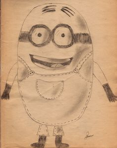 My first try :) #Minion from #DespicableMe #Drawing #Art #Pencil