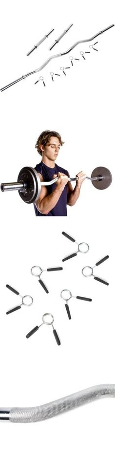 Barbells And Attachments 137864 Barbell Curl Bar Dumbbell Handle Combo Set Solid Steel Bodybuilding Fitness
