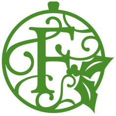 Silhouette Design Store - View Design #164632: christmas monogram ornament f