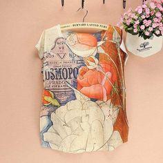 Full printed ladies top tees  women t-shirt  summer dress FREE shipping