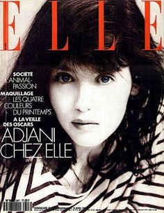 Cover with Isabelle Adjani March 1990 of FR based magazine Elle France from Lagardère Group including details. Isabelle Adjani, Brigitte Lacombe, M16, Isabella Rossellini, World Most Beautiful Woman, Beautiful Women, Fashion Mag, Vogue, Princess Caroline