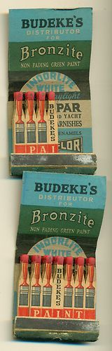 Budeke's Paint #Feature #Matchbook Baltimore MD To order your logo'd #matchbooks GoTo www.GetMatches.com