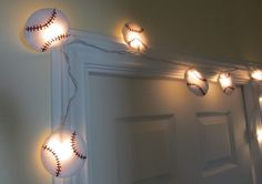 Felt Baseball String Lights/Nightlight by bubblewish on Etsy, $28.00
