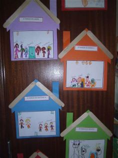 Kids Crafts, Family Crafts, Preschool Family Theme, Preschool Crafts, Toddler Activities, Preschool Activities, Emotions Preschool, All About Me Preschool, Kindergarten Art