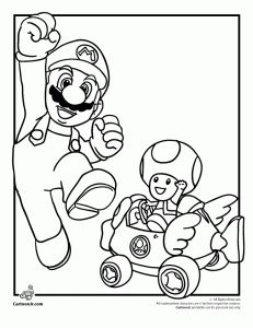 Super Mario Bros. printable coloring pages