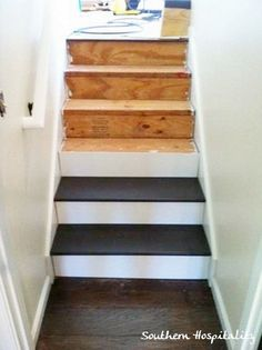 DIY: How To Cut, Paint & Install Stair Treads + How To Remove Carpeting + How To Install A Stair Runner (awesome step-by-step tutorial & pictures!) - these are excellent tutorials!!!