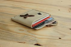 Wallet leather wallet woman slim wallet minimal by JaklinDifferent