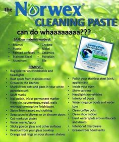 What the Norwex cleaning paste can do! Visit ChemicalsNoMore.com