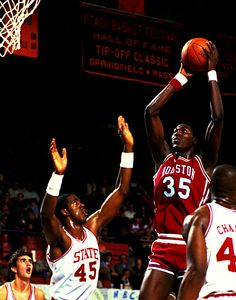 Hakeem Olajuwon in college....When he was known as Akeem