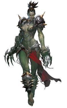 female orc assassin