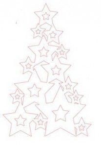 елка из звезд