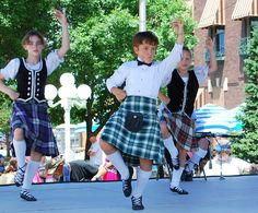 In the middle - kilt on a Primary male dancer #Drummond #Green #Tartan