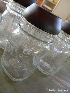solar outdoor lighting in mason jar