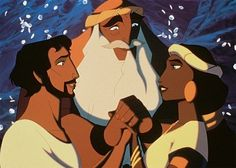 Zipporah, Moses, and Jethro in The Prince of Egypt DreamWorks Animation SKG. Dreamworks Animation, Disney And Dreamworks, Animation Film, Disney Animation, Disney Pixar, Jack Frost, Brave Little Toaster, Prince Of Egypt, Disney Animated Movies