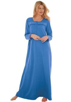 8e3293155ac Industries Needs — Only Necessities Plus Size Long Knit Gown Soft and...  Lingerie