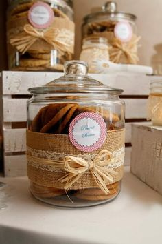 Rustic Cookie Jar Impressive Wedding Catering In The Country  Burlap Jar And Gift Inspiration Design