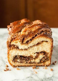 Sticky Caramel-Pecan Babka Loaves from @thekitchn