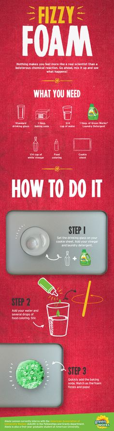How to make fizzy foam. Fun science experiments for kids.