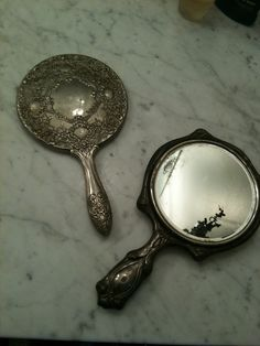 I have started my collection of hand mirrors.  May put them on a wall as a grouping